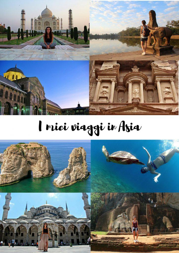 i miei viaggi in asia