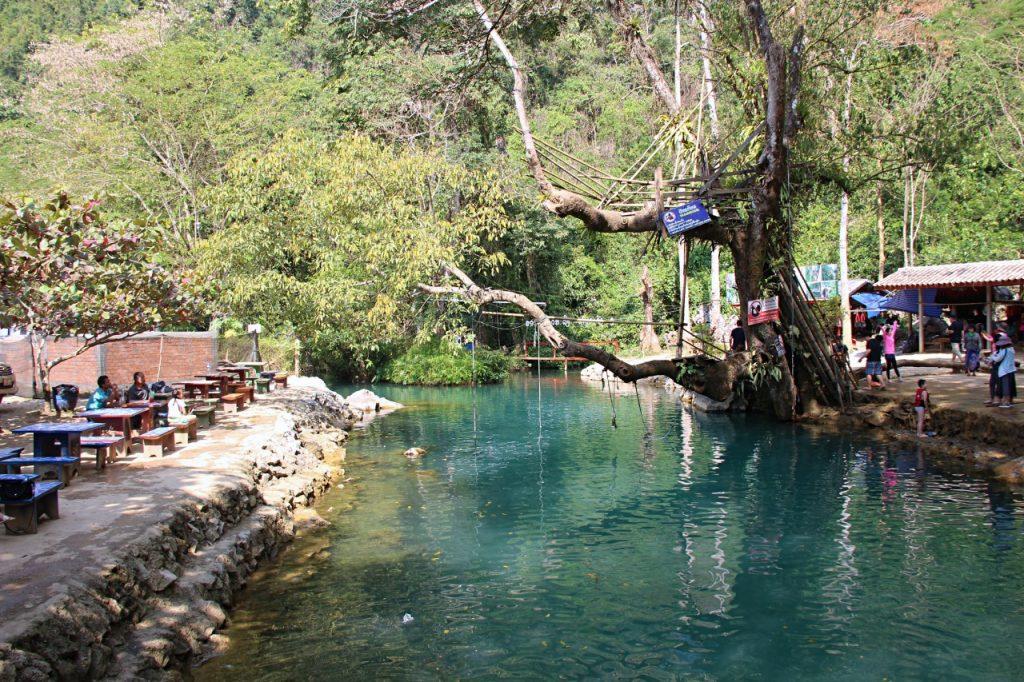 lagune di vang vieng: blue lagoon 1