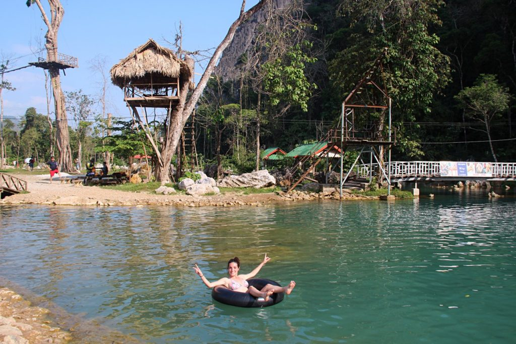 lagune di vang vieng, io nella blue lagoon 2