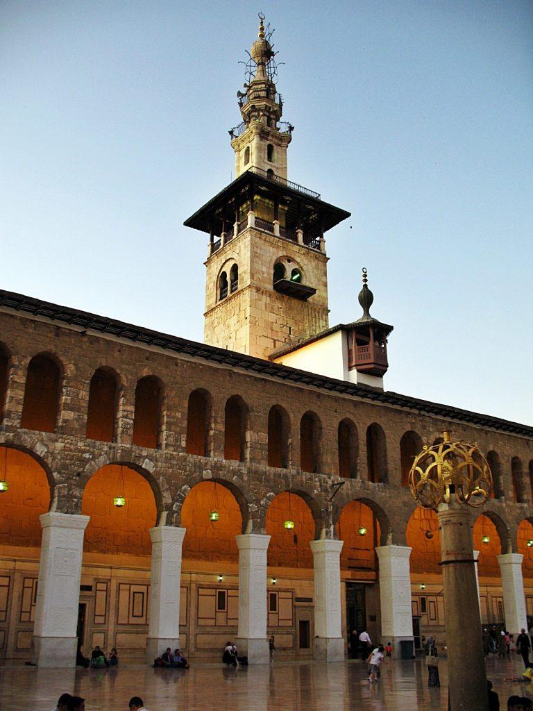viaggio in siria, la moschea degli omayyadi a damasco
