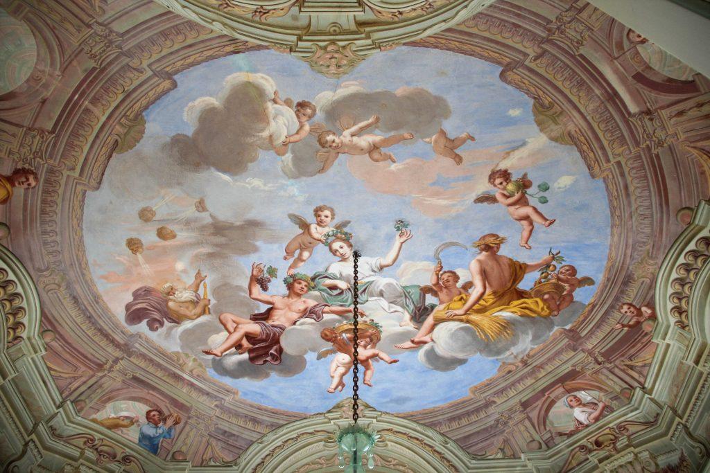 Villa Durazzo, dettaglio del soffitto al secondo piano