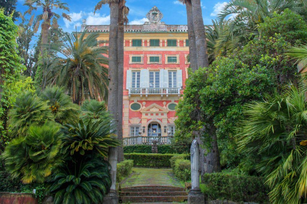 villa durazzo, la facciata dell'ingresso