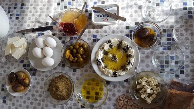 primi giorni in siria, colazione siriana