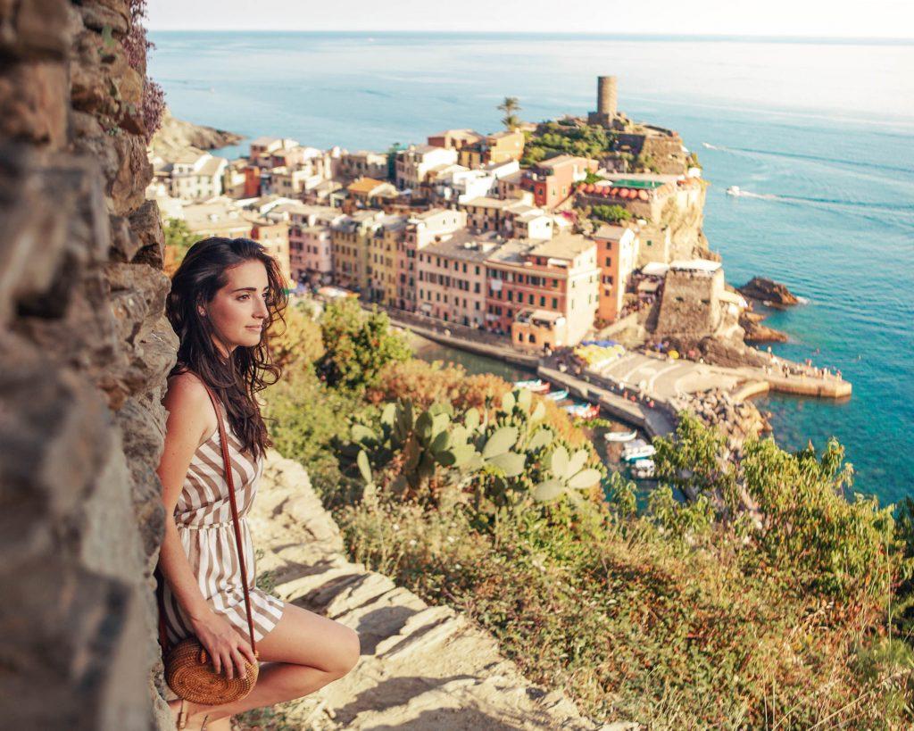 io a vernazza, lungo il sentiero per Monterosso