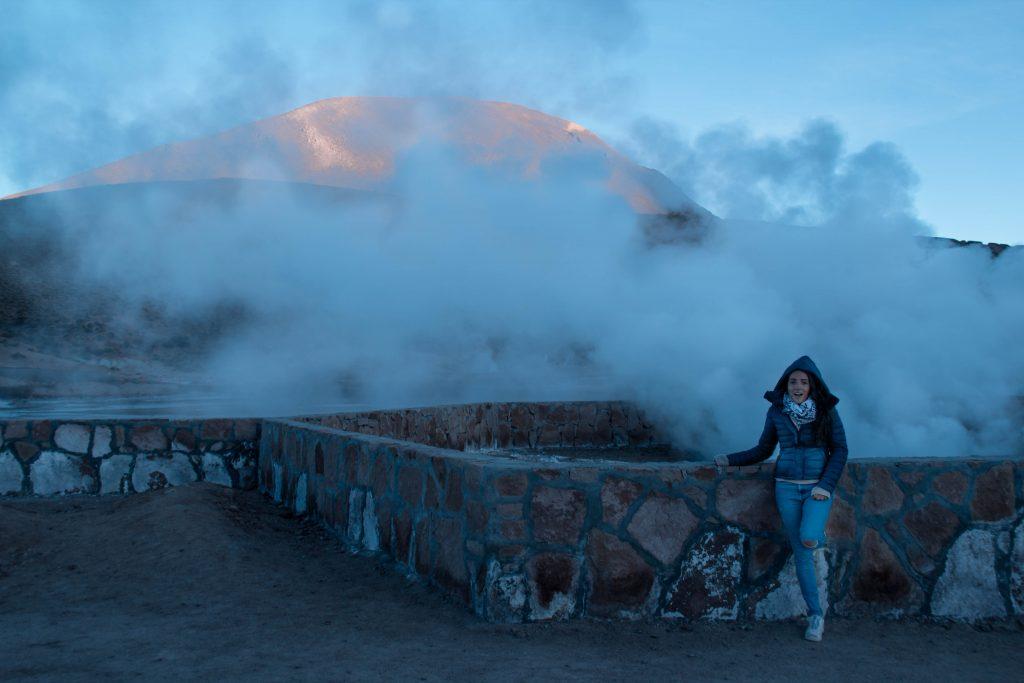 elisabetta frega, travel blogger - geyser di el tatio