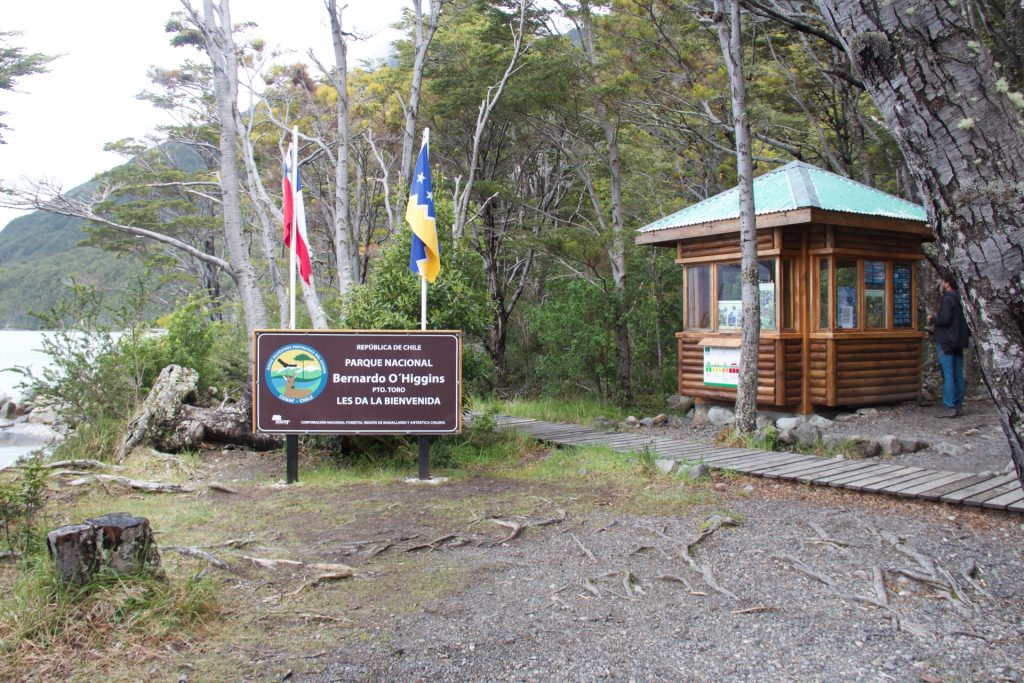 ingresso al parco nazionale bernardo o'higgins