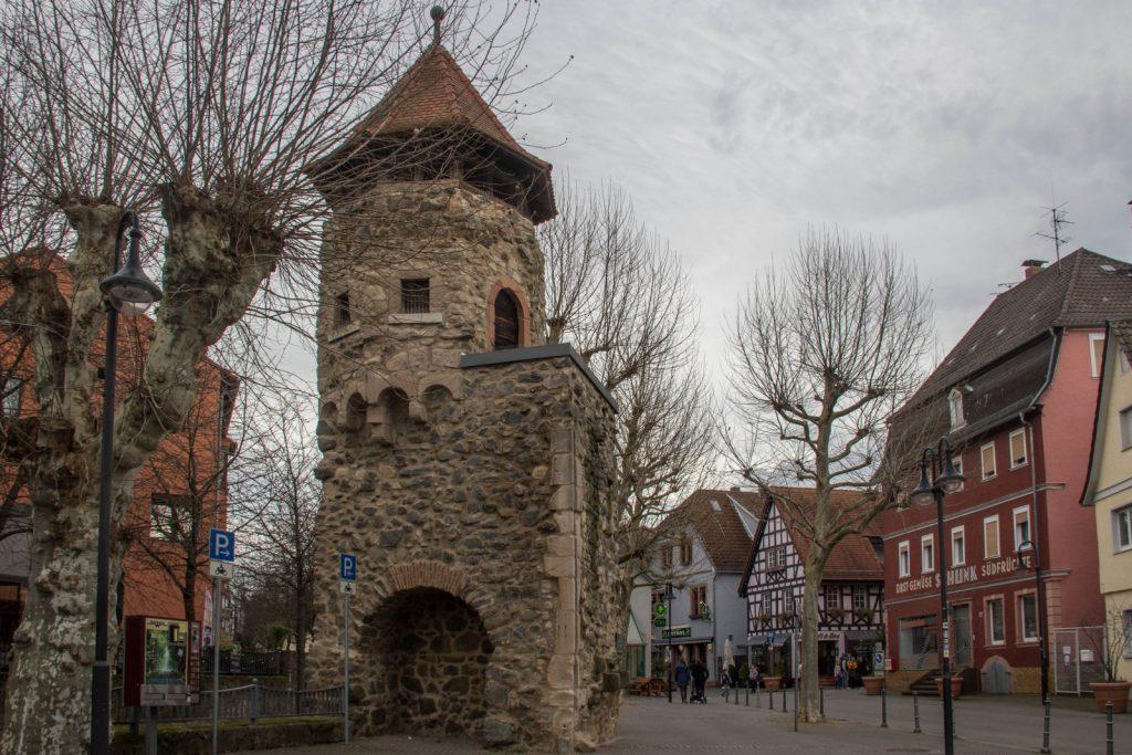 visitare bensheim, Rinnentorturm  - visitare heppenheim e bensheim da Francoforte in un giorno