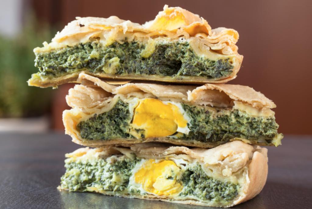 torta pasqualina, torta salata tipica genovese. Cosa mangiare in liguria, piatti tradizionali liguri