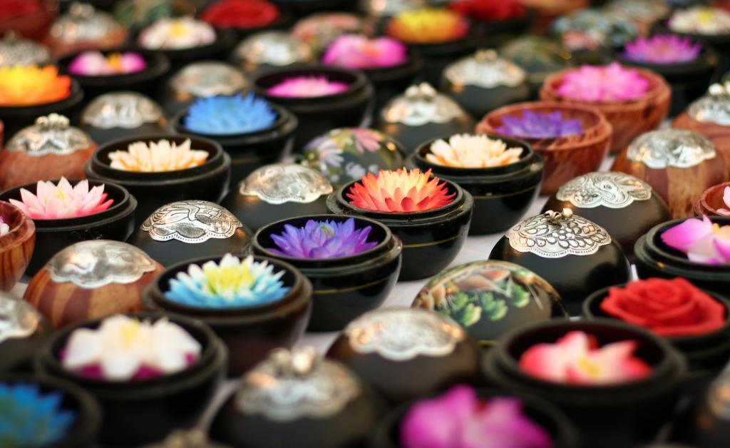 souvenir dalla thailandia - saponette intagliate